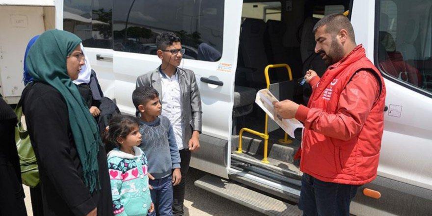 Suriyeli 70 kişilik grup ülkesine döndü