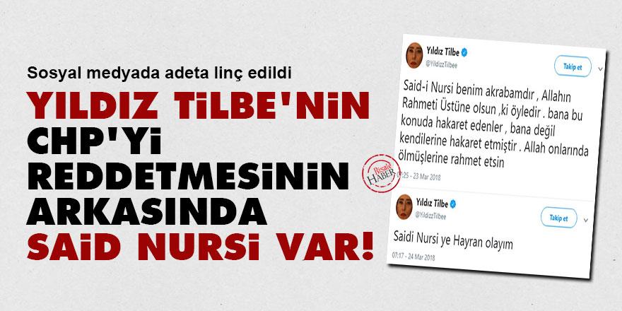 Yıldız Tilbe'nin CHP'yi reddetmesinin arkasında Said Nursi var!