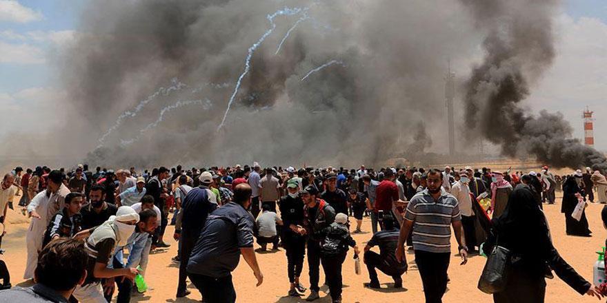 Terör devleti İsrail ve Amerika soykırım yaptı: 59 Filistinli şehit, 2 bin 771 Filistinli yaralı