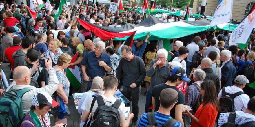 Brüksel meydanları Filistin için doldu