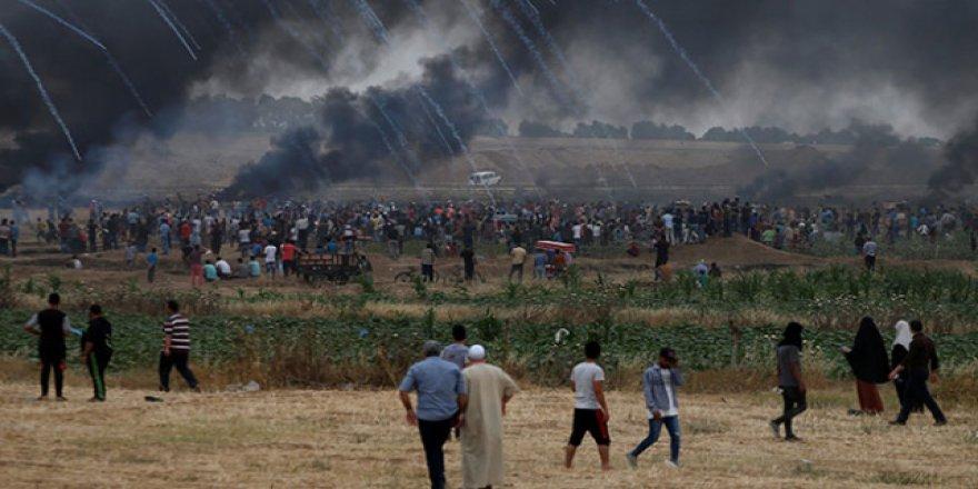 Lübnan da İsrail'in Gazze katliamlarına tepki gösterdi