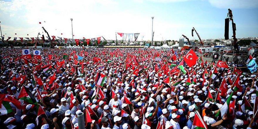 Yenikapı'da 'Zulme Lanet, kudüs'e destek mitingi' başladı (Canlı)