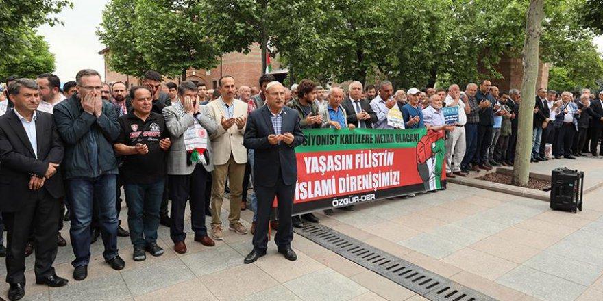 Ankara'da İsrail protestosu