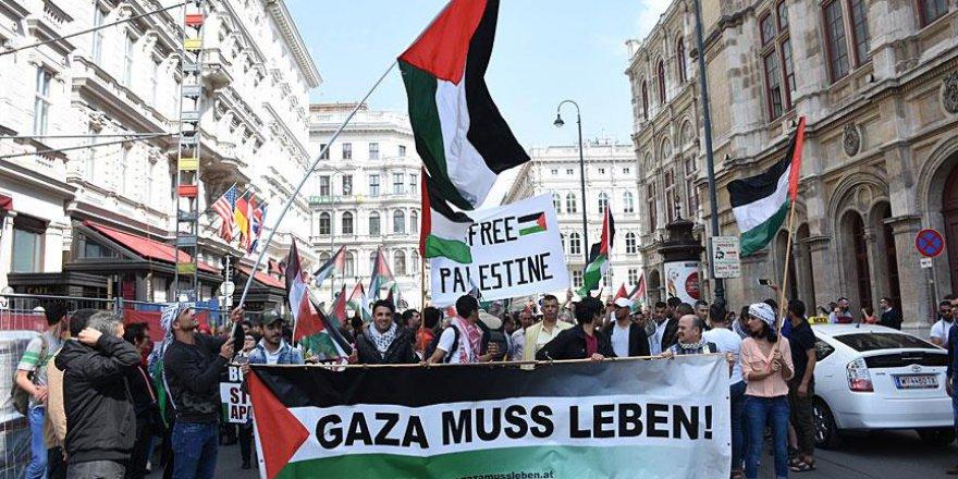 Avusturya'da İsrail protestosu