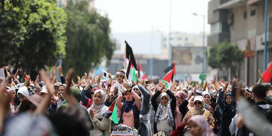 'Büyük Dönüş Yürüyüşü'ne bir destek de Fas'tan