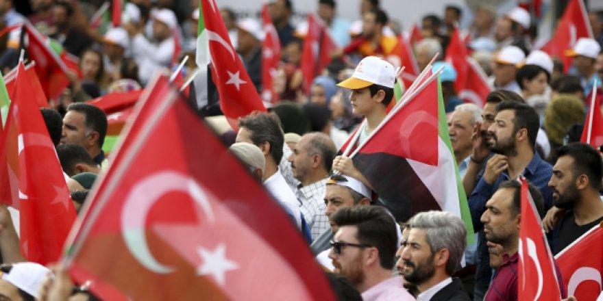 Diyarbakır da Filistin için meydanlardaydı