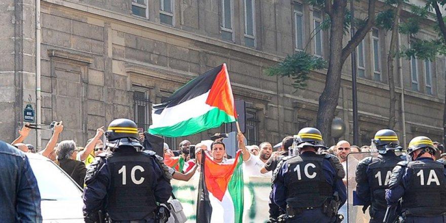 Fransa'dan Gazze'ye destek gösterisi