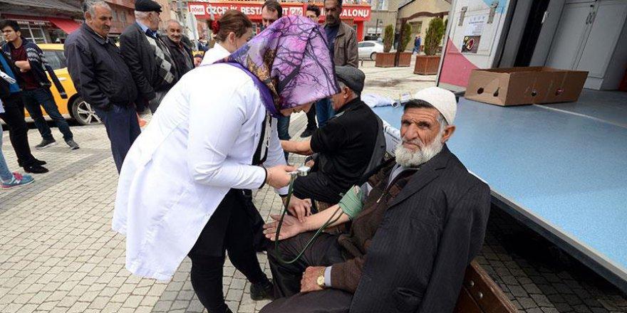 Kars'ta açık havada sağlık sistemi