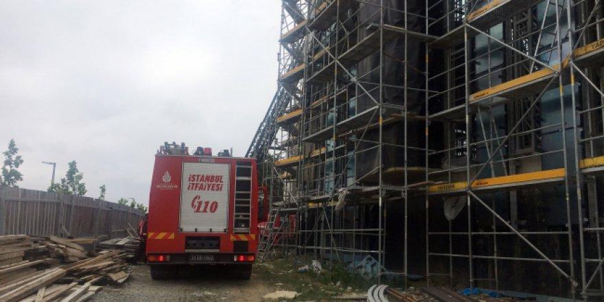 İTÜ'de cami inşaatında yangın
