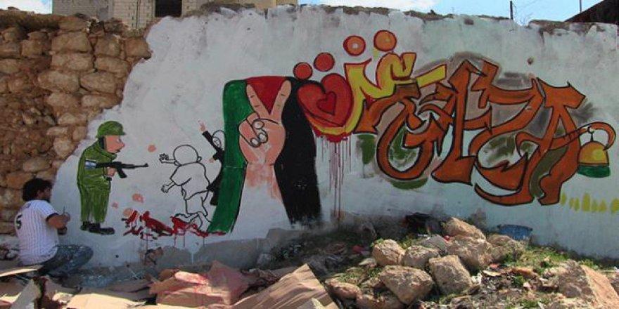 Suriyeli sanatçıdan Kudüs ve Gazze'ye grafitili destek