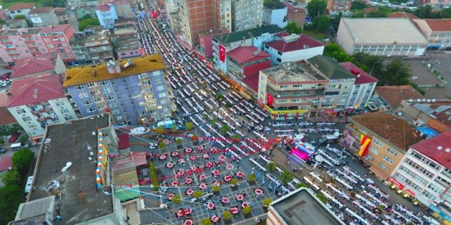Samsun'da 12 bin kişllik iftar