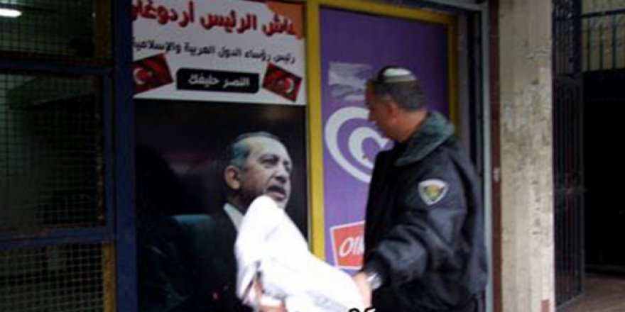 İsrail polisi Filistinlilerin Türkiye sevgisine engel olmaya çalışıyor
