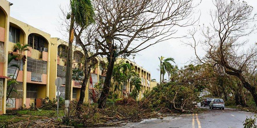 Porto Riko'yu kasırga vurdu