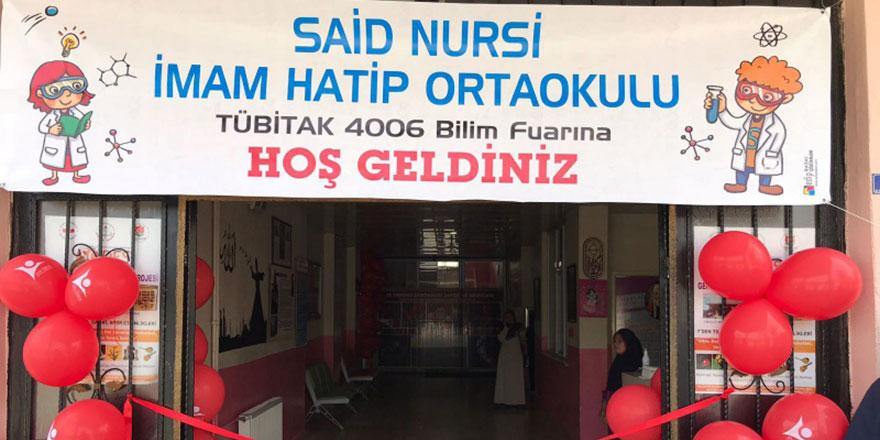 Said Nursi İmam Hatip Ortaokulunda TÜBİTAK Bilim Fuarı açıldı