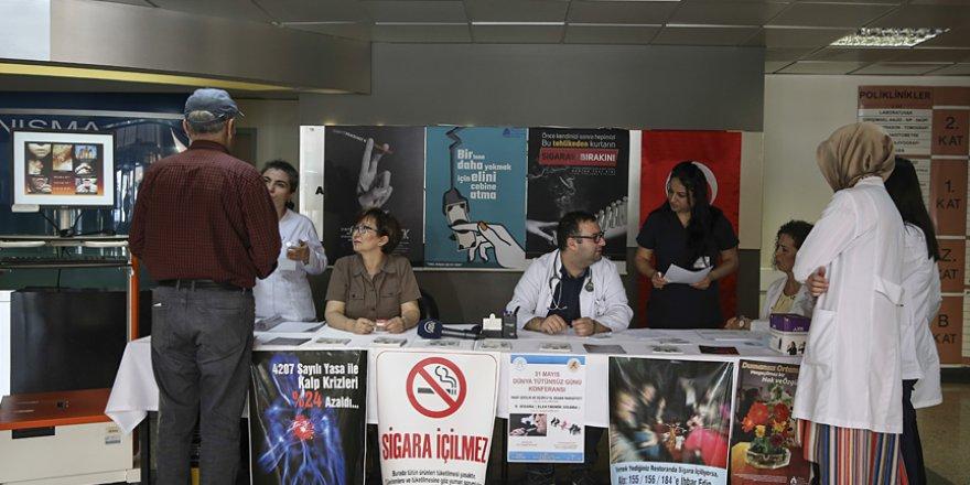 Dünya tütünsüz gününde sigarayı bırakma sözü verdiler