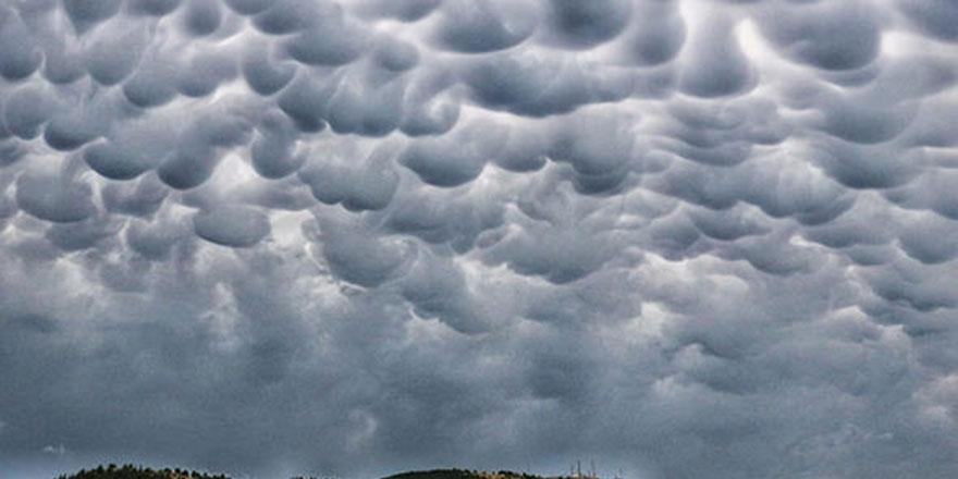 Kırklareli'nde Mammatus Bulutları görüldü