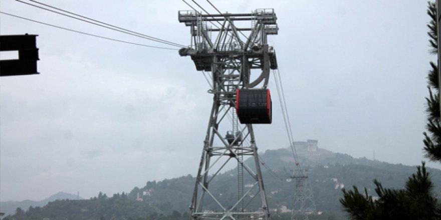 Karadeniz'in en uzun mesafeli teleferiği hizmete açıldı