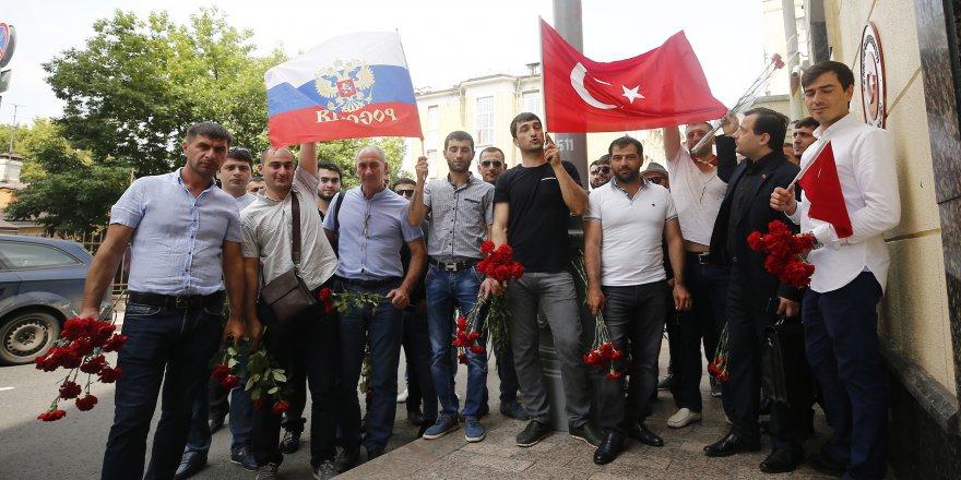 Moskova'da 15 Temmuz şehitleri için tören