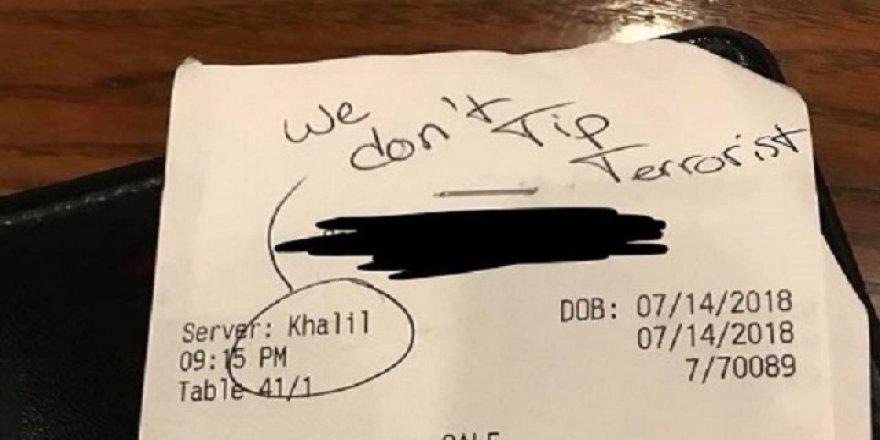 Garsonu Müslüman sandılar, ırkçılık yaptılar