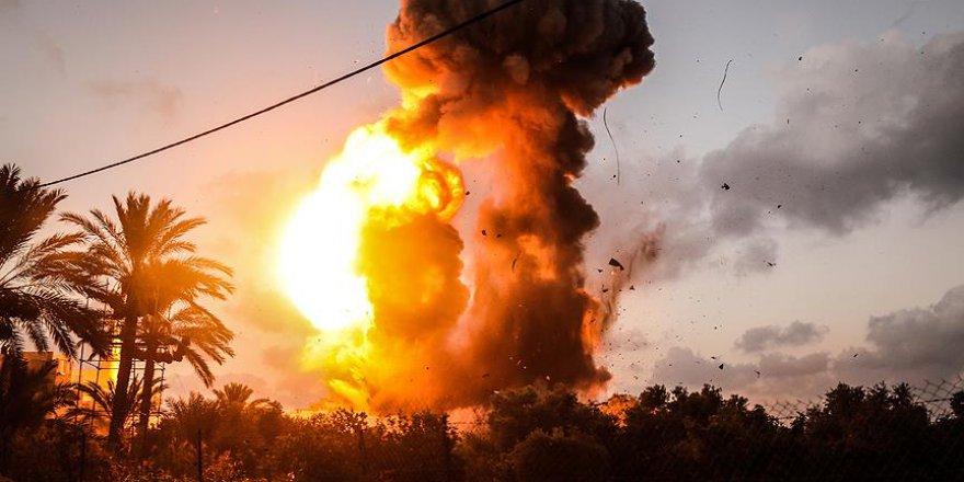 İşgalci İsrail savaş uçağı, tank ve toplarla saldırdı