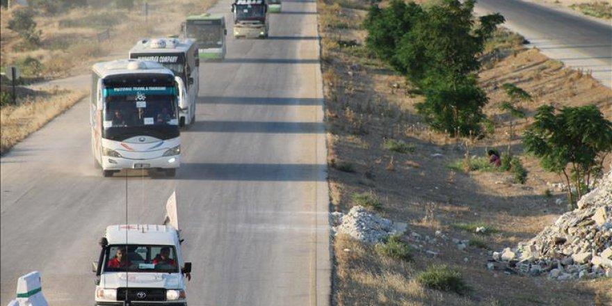 İdlib'teki iki bölge arasında karşılıklı tahliye yapıldı