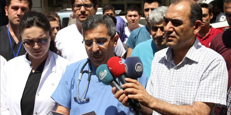 Doktorlardan şiddete tepki