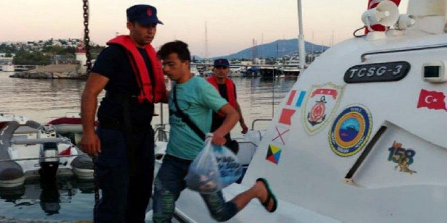 Muğla ve Muş'ta 64 kaçak göçmen yakalandı