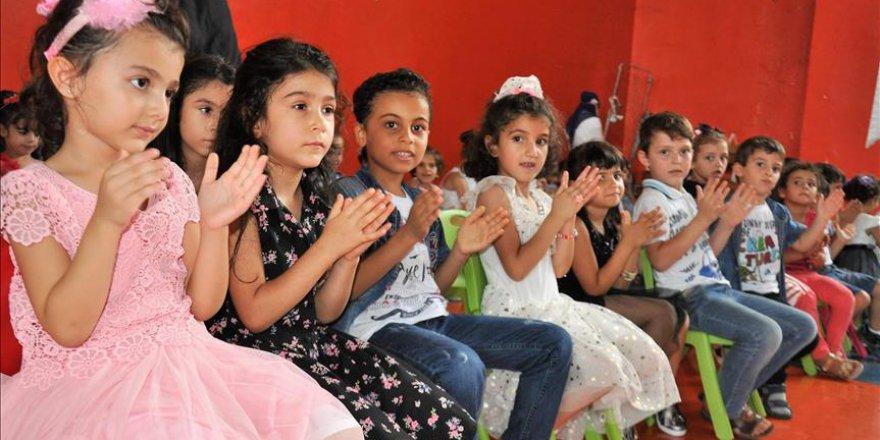 Suriyeli minikler anaokulu ile tanıştı