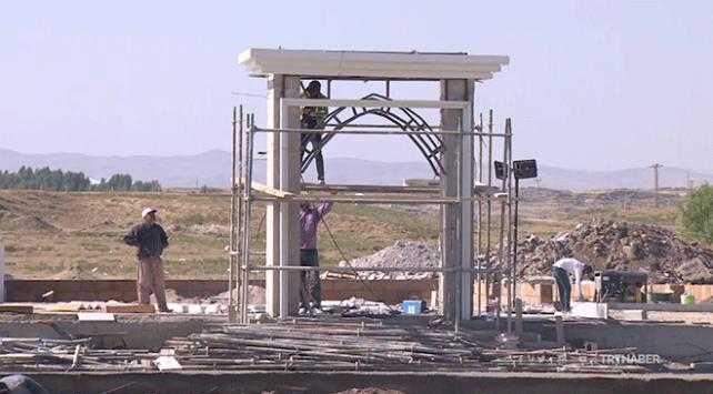 Malazgirt'te Sultan Alparslan Namazgahı inşa ediliyor