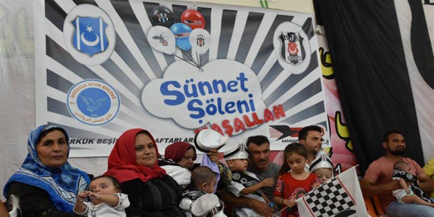 Beşiktaş taraftarından Kerkük'te 'sünnet' şenliği