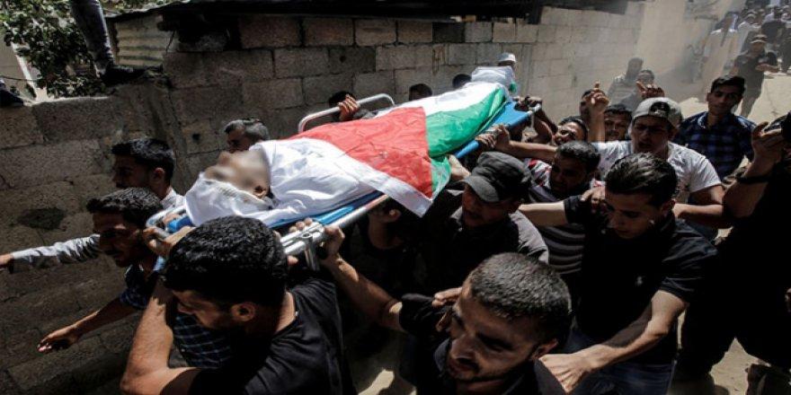 Filistinli şehit son yolculuğuna uğurlandı