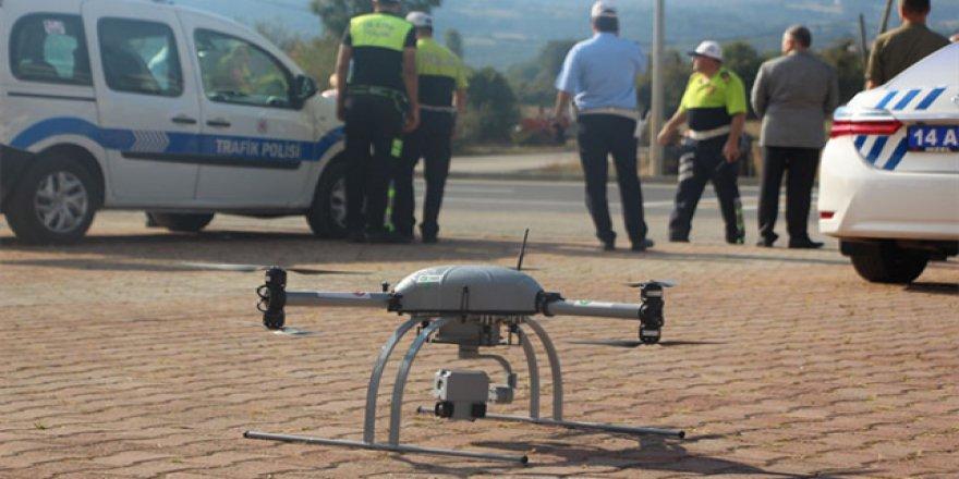 Trafik denetiminde 'drone' kullanılıyor