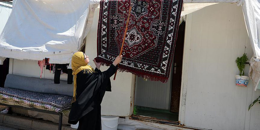 Konteyner kentte yaşayan Suriyeliler bayrama hazır