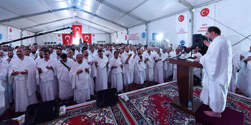 Diyanet İşleri Başkanı Ali Erbaş'ın, Arafat'ta yaptığı Vakfe Duası