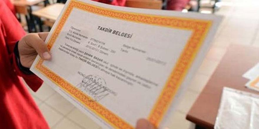 Takdir - Teşekkür belgesi kaç puanla alınıyor?