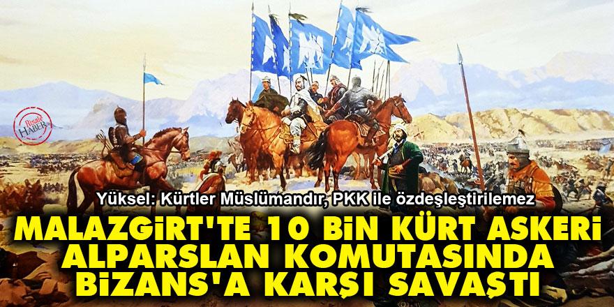 Malazgirt'te 10 bin Kürt askeri Alparslan komutasında Bizans'a karşı savaştı