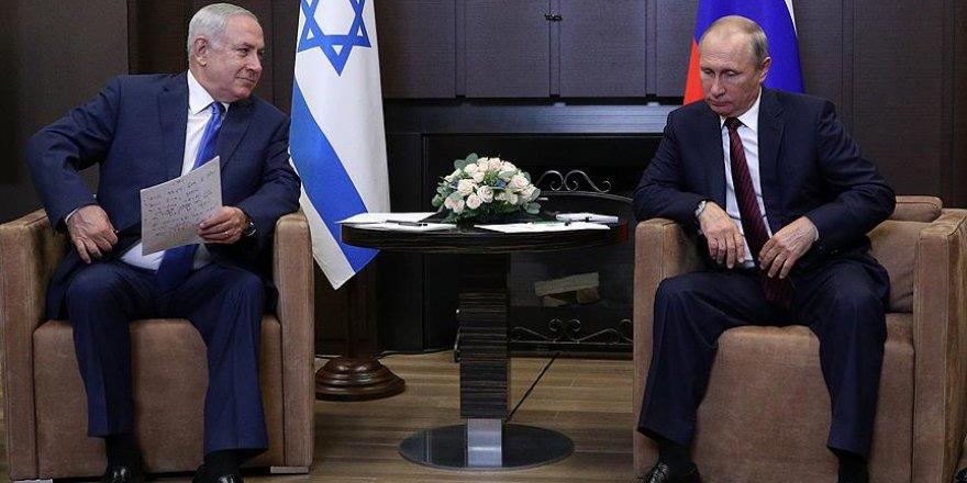 Düşen Rus uçağının ardından Putin ile Netanyahu görüştü