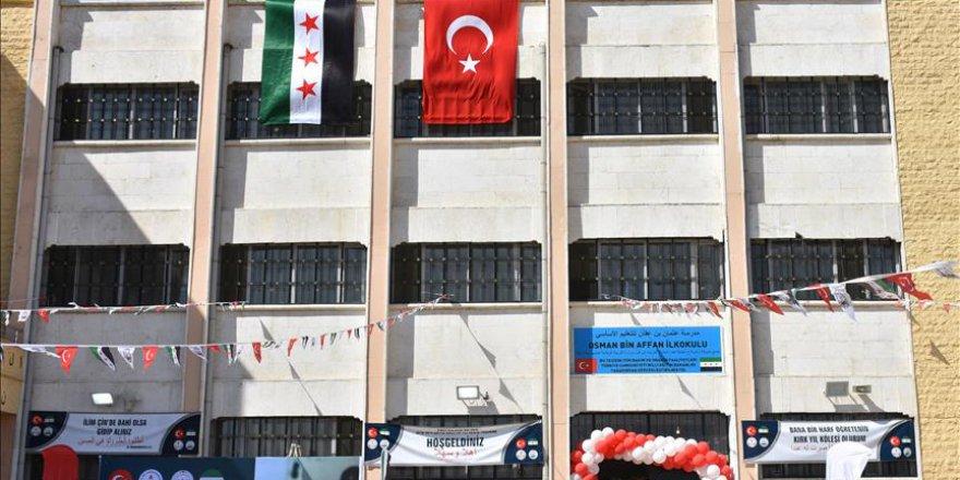 Azez'deki ilkokul Türkiye'nin desteği ile faaliyete başladı