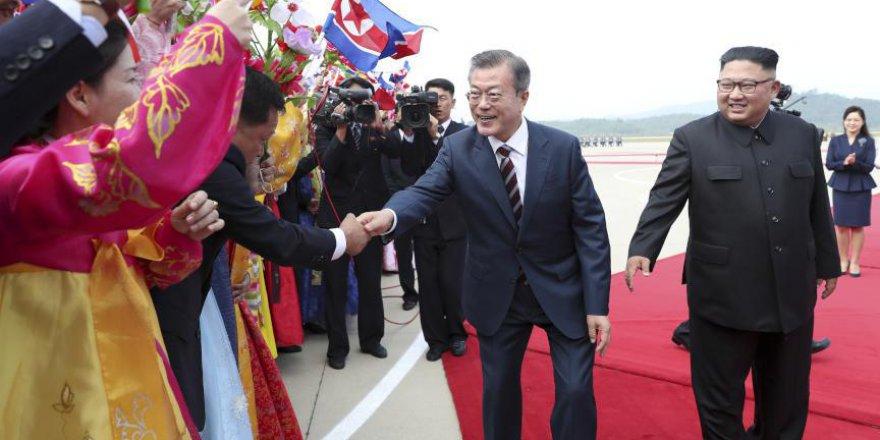 Kuzey ve Güney Kore arasında samimi görüntüler
