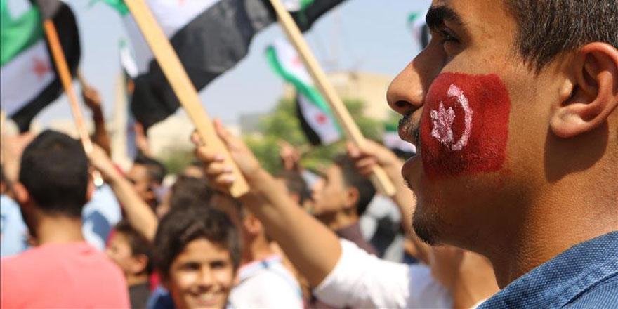 İdlib'de Türkiye'ye teşekkür gösterileri
