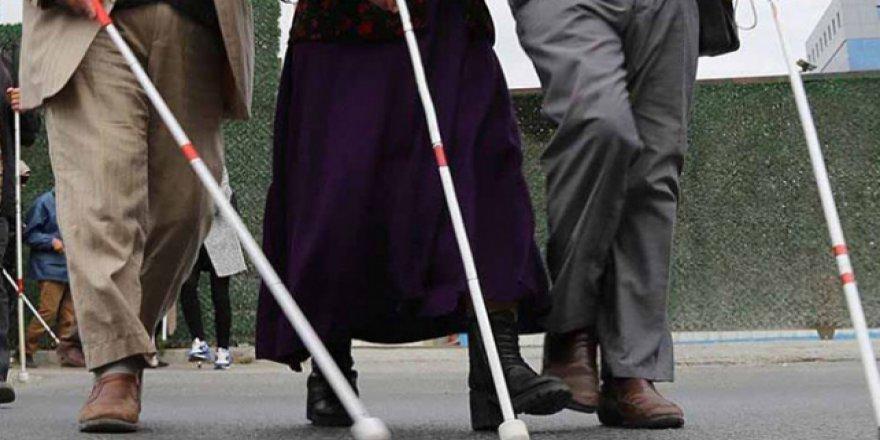 Fas'ta görme engelliler hükümetten iş istedi