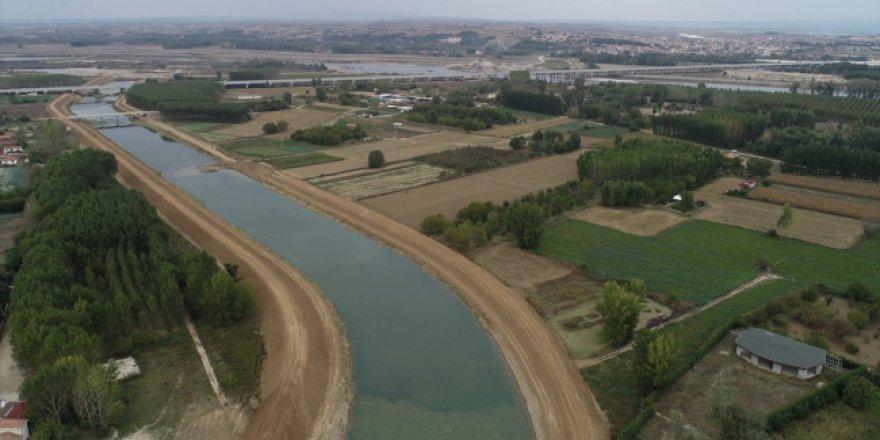 Edirne'de taşkınları bitirecek projede sona gelindi
