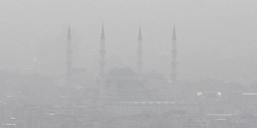 Çölden gelen tozlu hava Ankara'ya ulaştı
