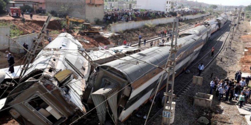 Fas'ta tren kazasında ölenlerin sayısı 7'ye yükseldi