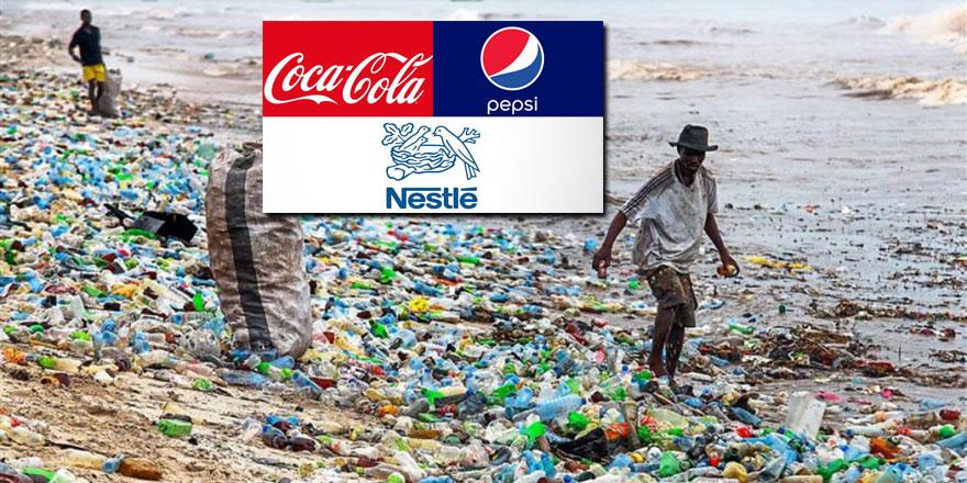 Deniz ve okyanusları en çok Coca Cola, Pepsi ve Nestle kirletiyor