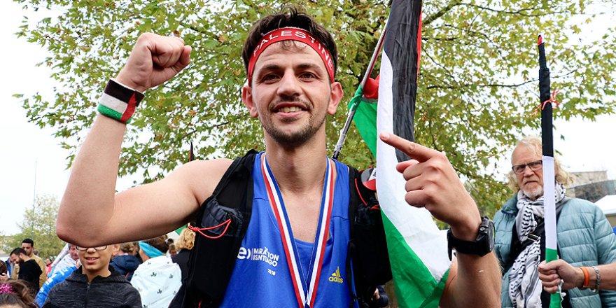 ABD'de Filistin için koşmasına izin verilmedi, Hollanda'da başardı