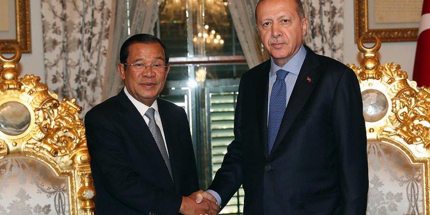 Başkan Erdoğan ile Kamboçya lideri görüştü