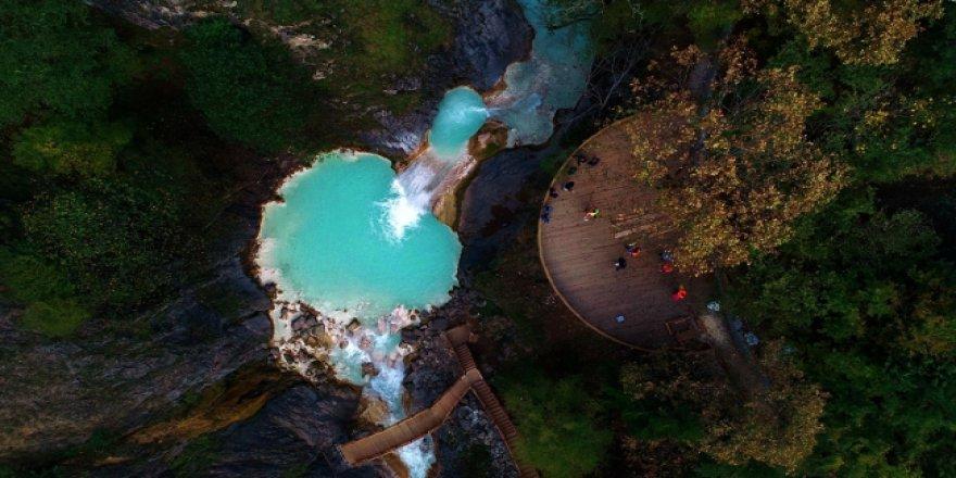 Giresun'daki Kuzalan Parkı'nda tefekkürlük manzaralar yaşanıyor