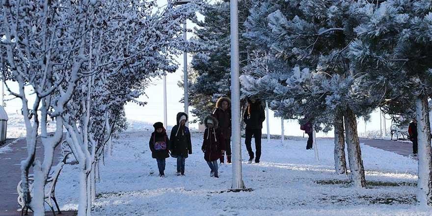 Gaziantep'te okullara kar tatili