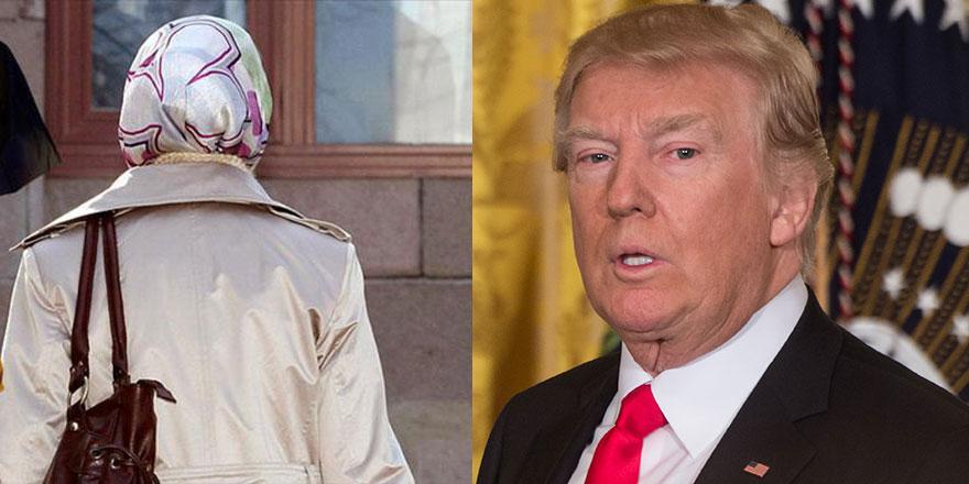 Başörtüsünü duyan Trump'ın anlayışı kısıtlandı!
